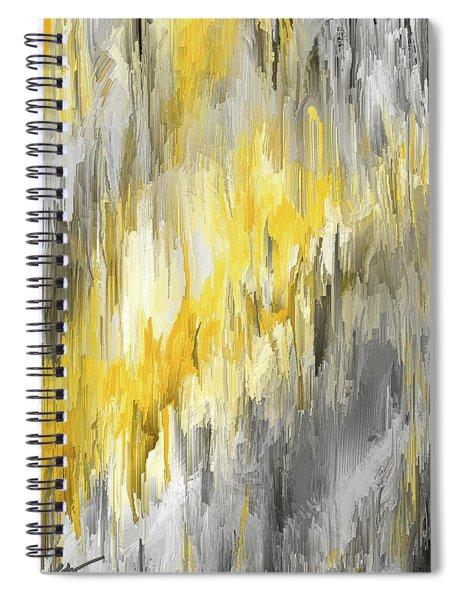 Winter Sun - Yellow And Gray Contemporary Art Spiral Notebook