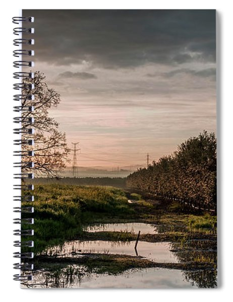 Spiral Notebook featuring the photograph Winter Sunrise by Arik Baltinester