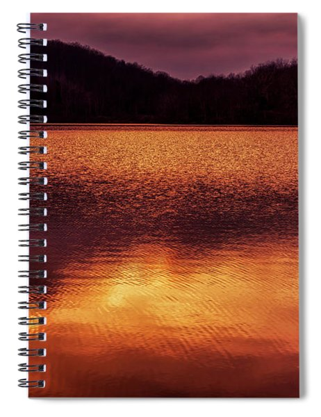 Winter Sunset Afterglow Reflection Spiral Notebook
