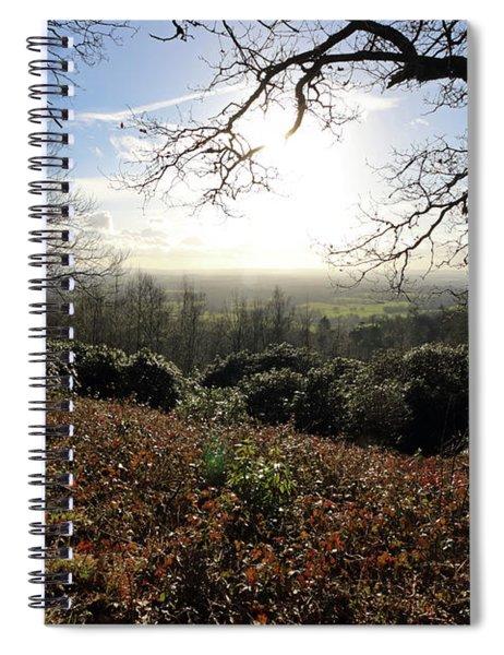 Winter Sunshine At Holmbury Hill Surrey Spiral Notebook