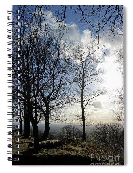 Winter Sunshine In Surrey Hills Spiral Notebook