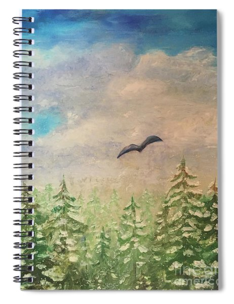 Winter To Spring Spiral Notebook