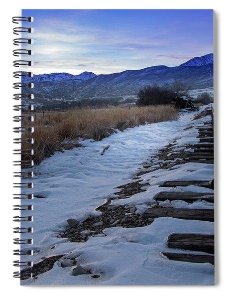 Winter Tracks Spiral Notebook