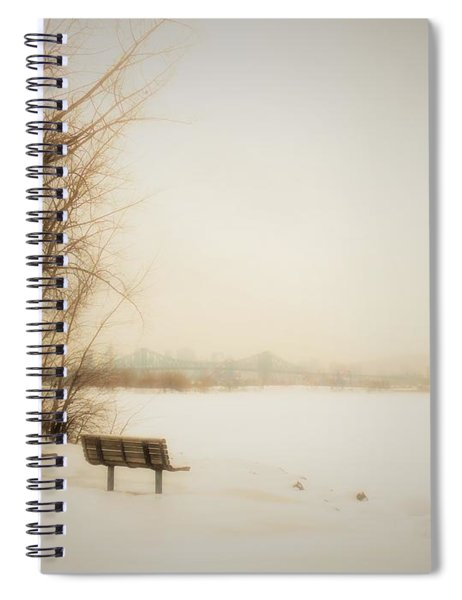 Winter View Over Montreal Spiral Notebook