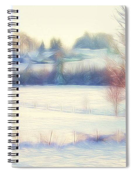 Winter Village Spiral Notebook