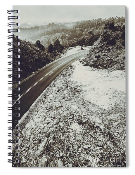 Winter Weather Road Spiral Notebook