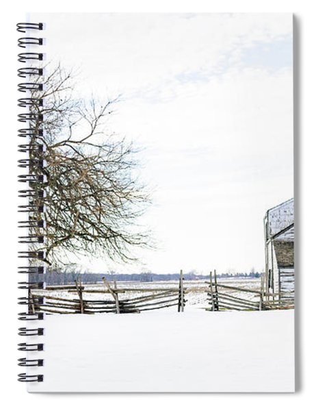 Winter White Out Spiral Notebook