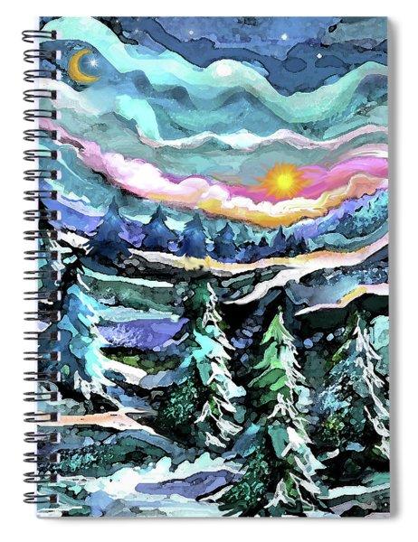 Winter Woods At Dusk Spiral Notebook