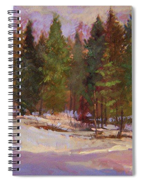 Winter's Eve Plein Air Spiral Notebook