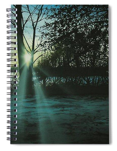 Winter's Evening Scout Spiral Notebook