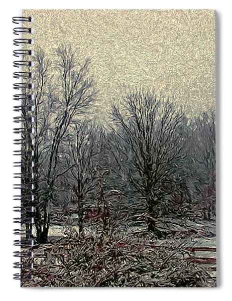 Winter's First Snowfall Spiral Notebook