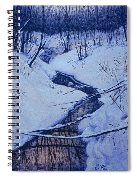Winter's Stream Spiral Notebook