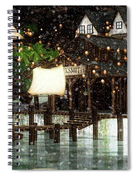 Wintery Inn Spiral Notebook