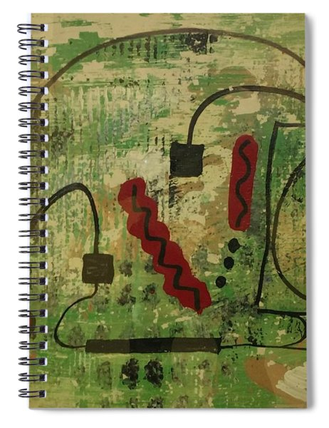 Wired Composition Enigma Spiral Notebook