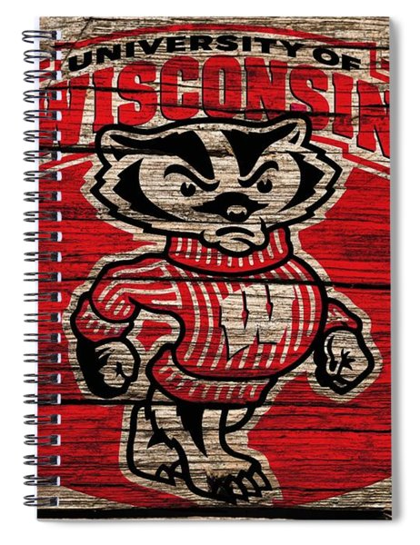 Wisconsin Badgers Barn Door Spiral Notebook