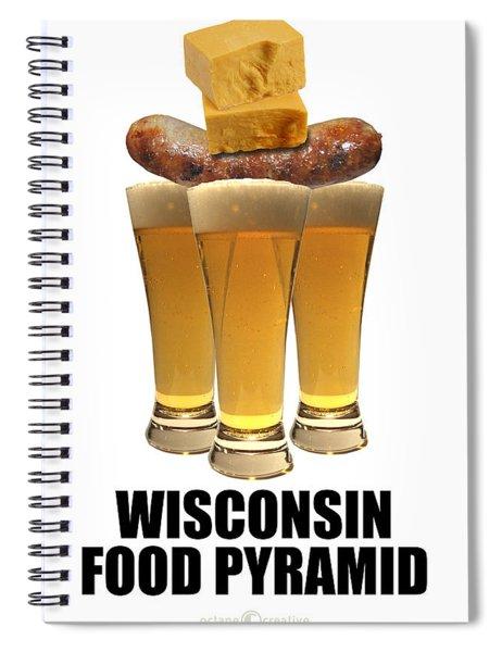 Wisconsin Food Pyramid Spiral Notebook