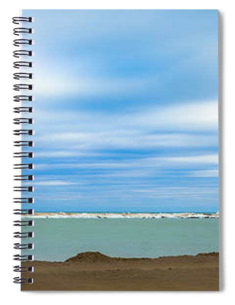 Wisconsin Winter Lakefront Spiral Notebook by Steven Santamour