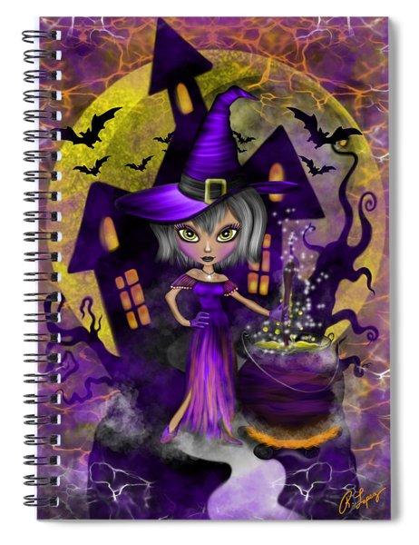 Wisdom Witch Fantasy Art Spiral Notebook