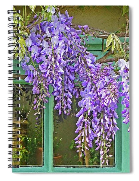 Wisteria Cottage Window Spiral Notebook