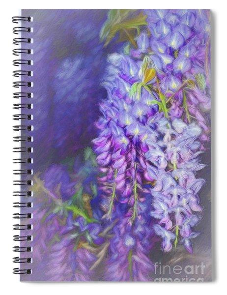 Wisteria Elegance By Kaye Menner Spiral Notebook