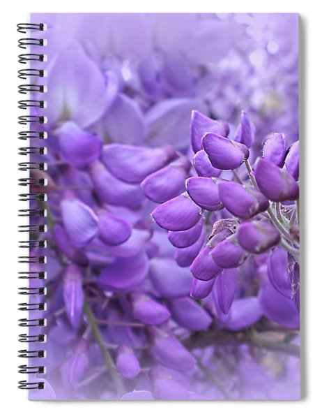 Wisteria In The Mist By Kaye Menner Spiral Notebook