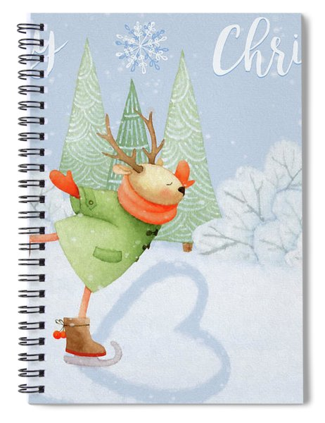 With All My Heart - Christmas Art Spiral Notebook