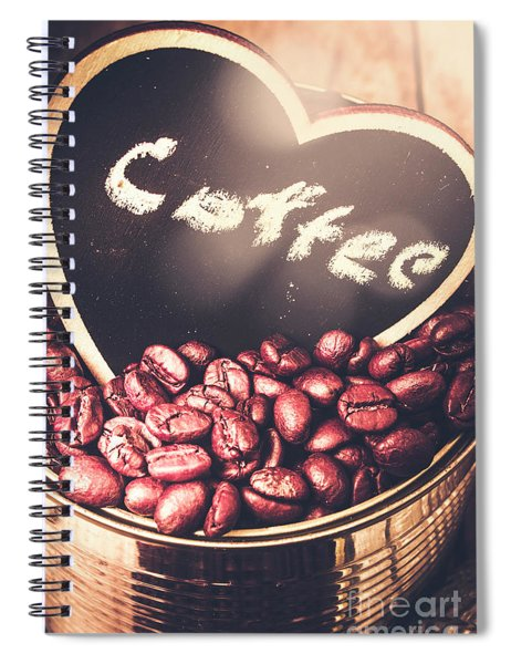 With Light And Coffee Love Spiral Notebook