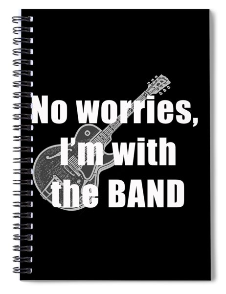 Spiral Notebook featuring the digital art With The Band Tee by Edward Fielding