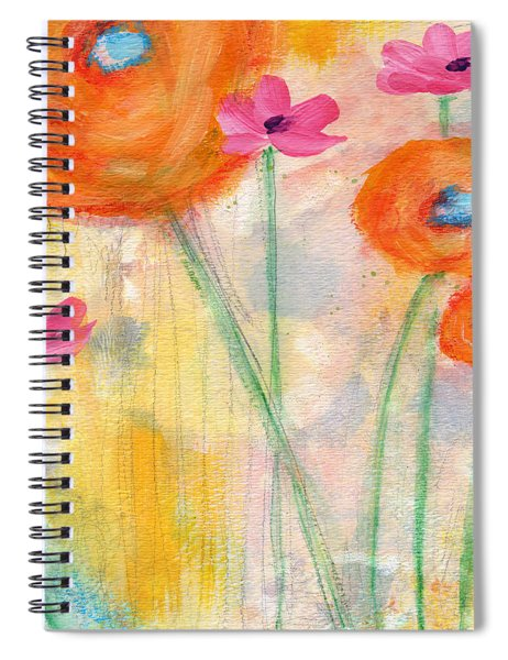 With The Breeze- Art By Linda Woods Spiral Notebook