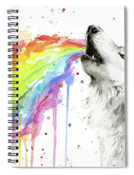 Wolf And Rainbow  Spiral Notebook