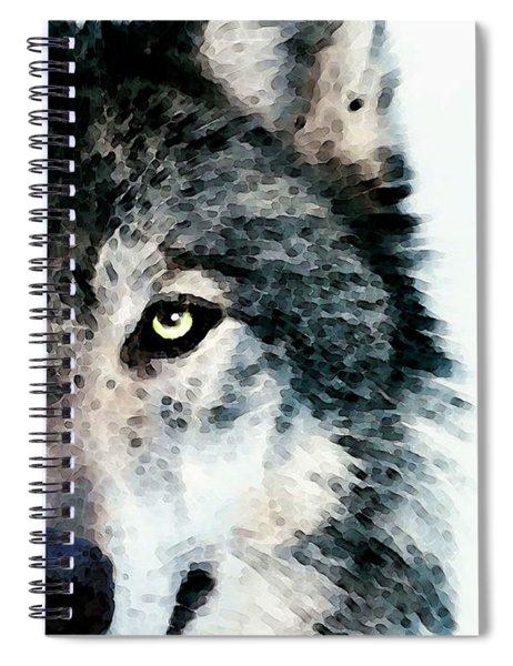 Wolf Art - Timber Spiral Notebook