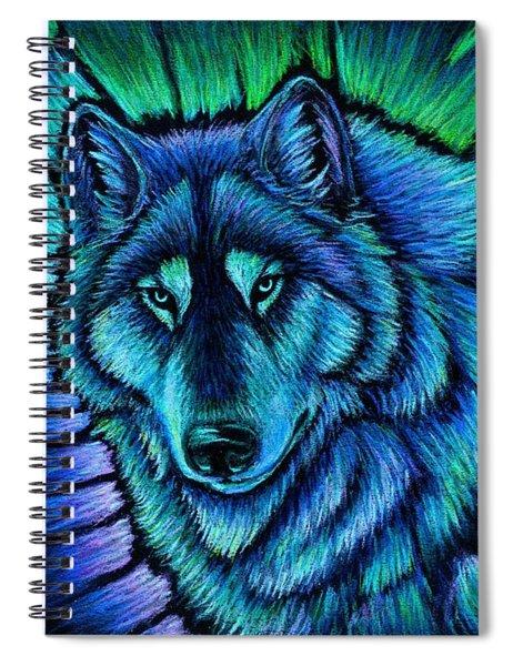 Wolf Aurora Spiral Notebook
