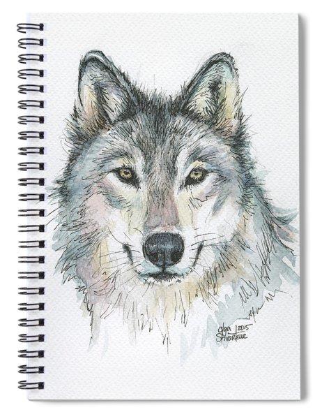 Wolf Spiral Notebook by Olga Shvartsur