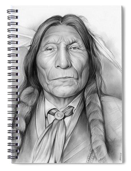 Wolf Robe Spiral Notebook