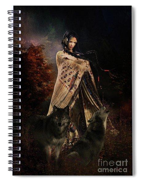 Wolf Song Spiral Notebook