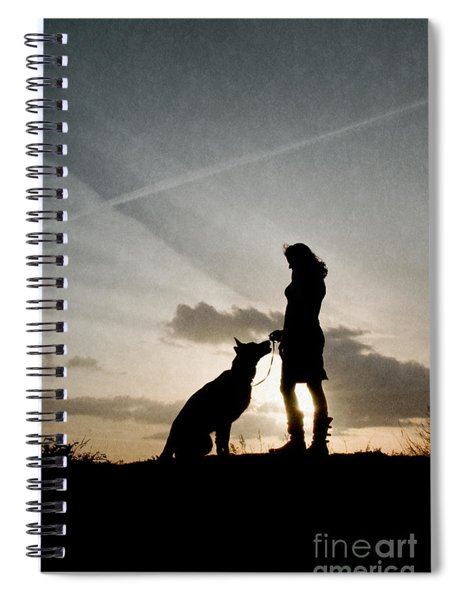 Woman And Dog  Spiral Notebook
