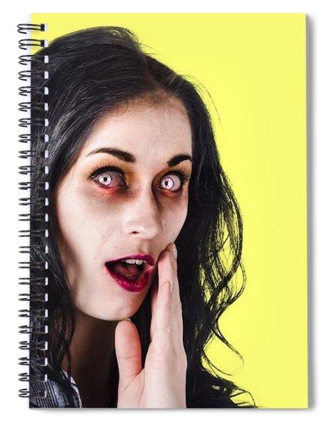 Woman In Horror Makeup Spiral Notebook