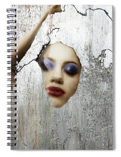 Woman In Steel Spiral Notebook