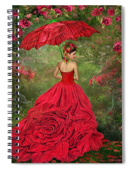 Woman In The Rose Gown Spiral Notebook