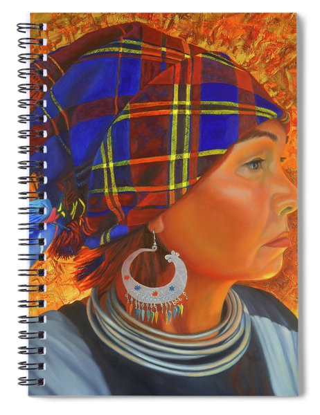 Woman In The Shadow Spiral Notebook