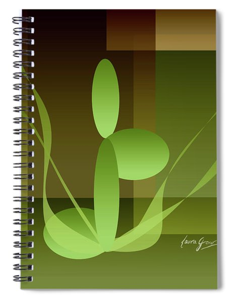 Woman On Peace With Nature Spiral Notebook
