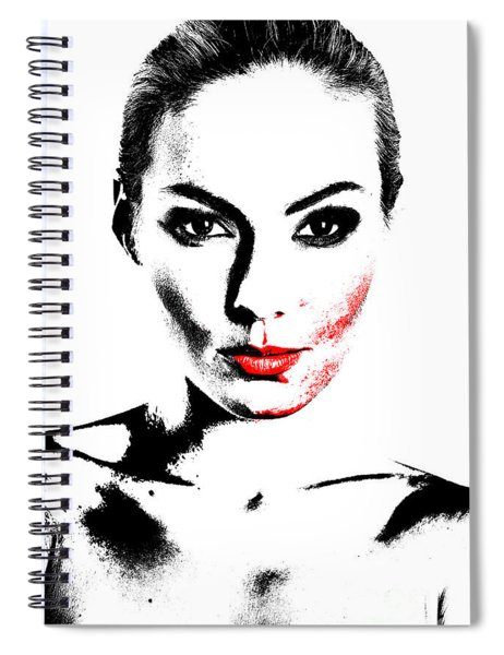 Woman Portrait In Art Look Spiral Notebook