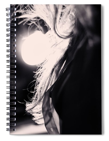 Woman Silhouette Spiral Notebook