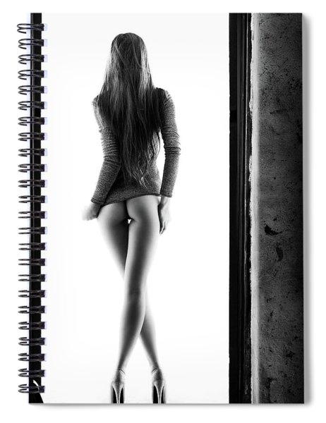 Woman Standing In Doorway Spiral Notebook