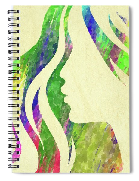 Woman Watercolor Series Spiral Notebook