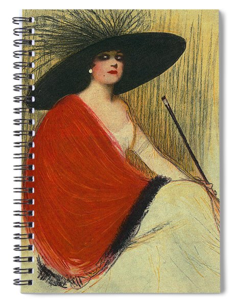 Woman Wearing Hat Spiral Notebook