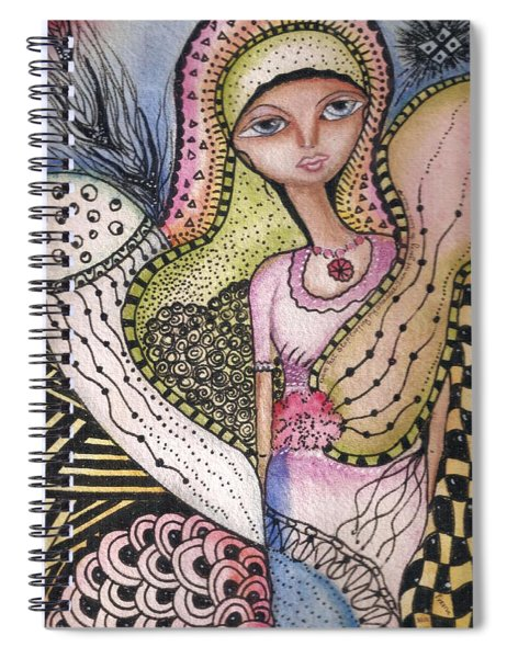 Woman With Large Eyes Spiral Notebook by Prerna Poojara