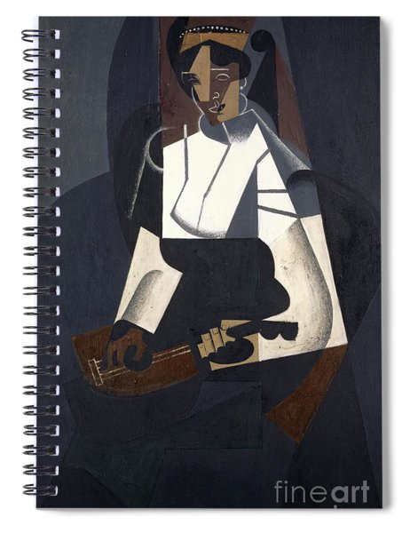 Woman With Mandolin Spiral Notebook