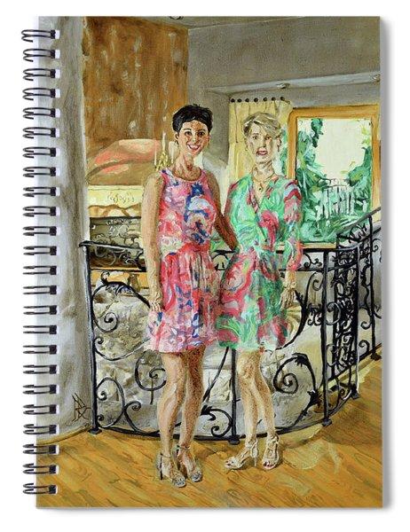 Women In Sunroom Spiral Notebook