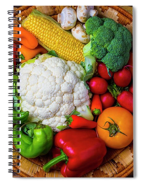 Wonderful Fresh Vegetables Spiral Notebook